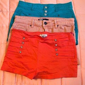 3 junior sized short shorts ❤️🥰❤️🥰